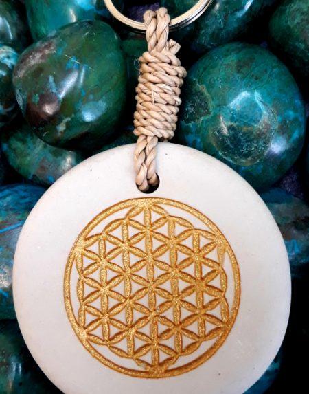 Schlüsselanhänger Symbol Symbolkraft Blume des Lebens Energie Energiebringer Schutz Esoterik Online Shop kaufen
